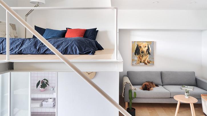 Kamar mezzanine rancangan Phoebe Sayswow Architects. (Foto: Phoebe Sayswow Architects Ltd./Home Designing)