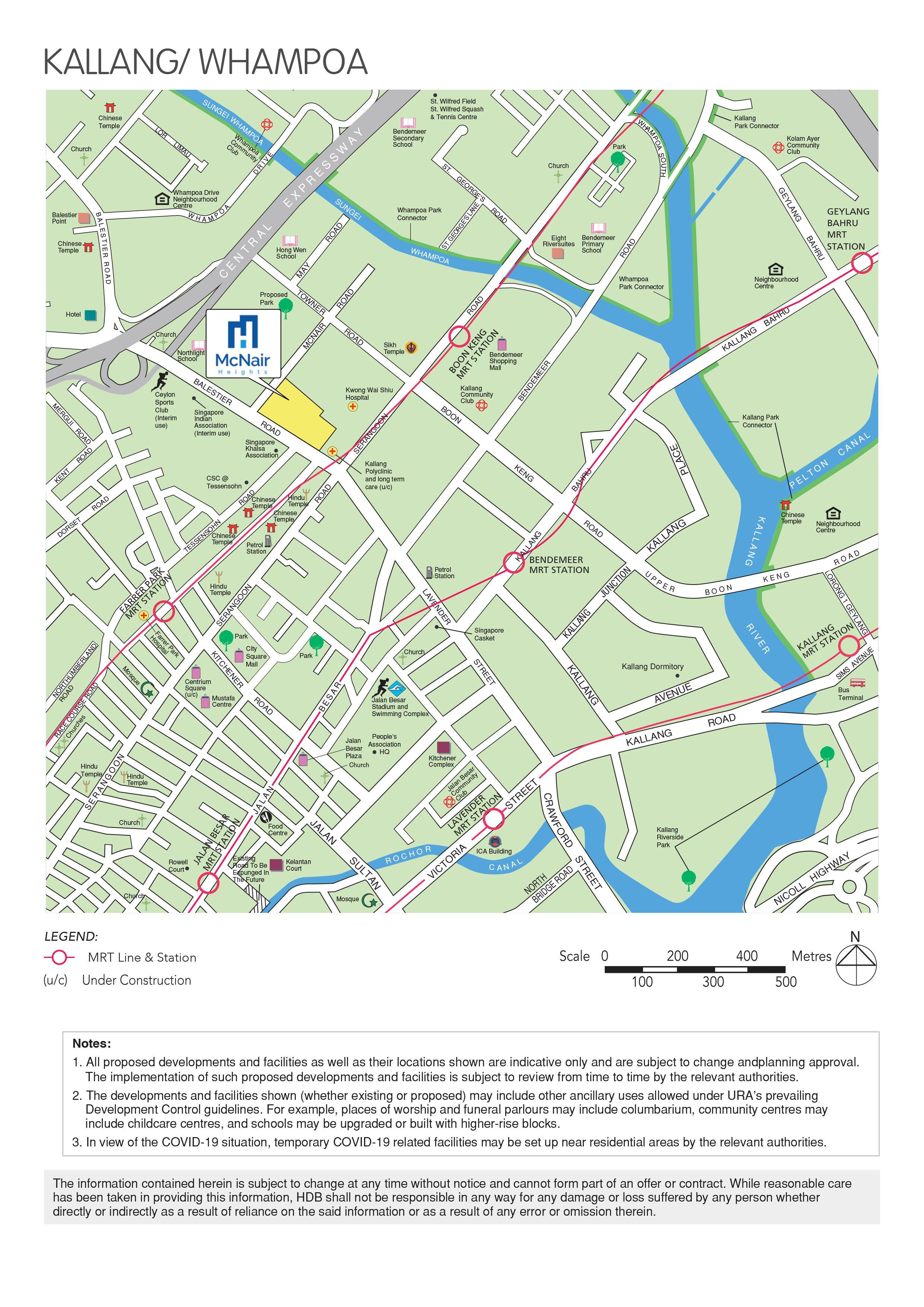 McNair Heights Kallang Whampoa BTO map