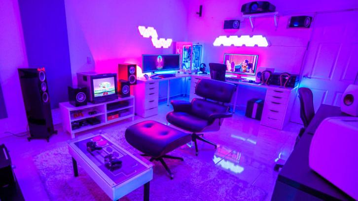 Lampu RGB seringkali menjadi pemanis terbaik bagi para gamer. (Foto: Design Ideas Guide)