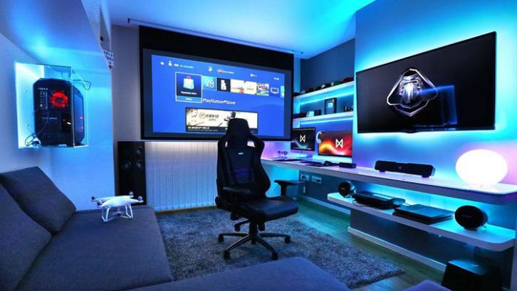 Ruangan yang tampak futuristik merupakan sebuah mimpi bagi para pemain game. (Foto: Design Ideas Guide)