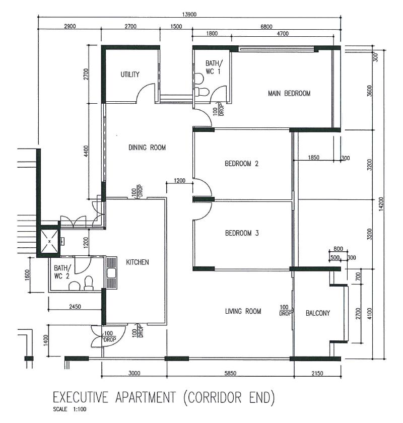 executive apartment floor plan