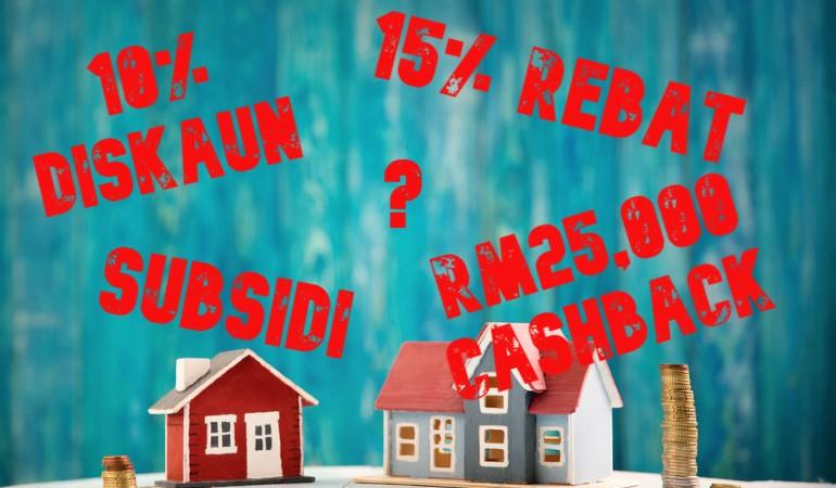 cashback, diskaun, subsidi, rebat, pinjaman perumahan, cashback rumah, diskaun rumah, rebat rumah, harga rumah, SPA, pemaju perumahan