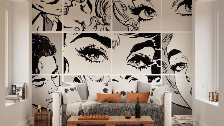 Mural adalah salah satu seni lukis yang bisa dipadukan dengan sentuhan furniture modern di rumah. (Foto: Wallpaper List)