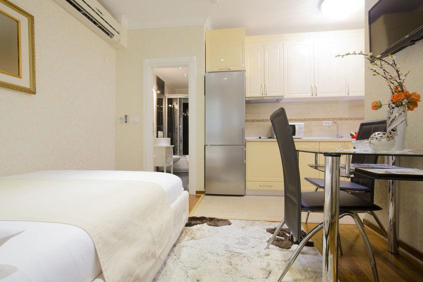 Modern studio apartment interior