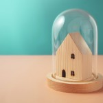 Safety,Zone,,Health,Care,Concept.,Mini,Wooden,House,Inside,A