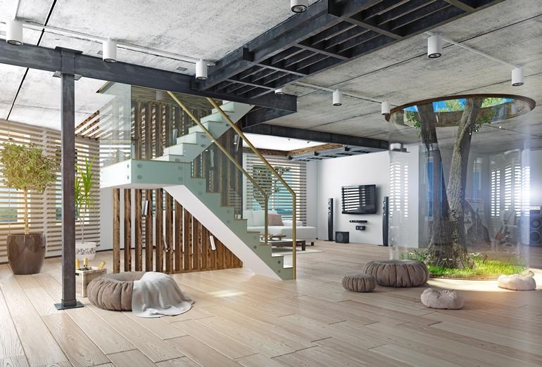 5 แบบบันไดบ้าน เพิ่มมูลค่าให้บ้านสวยและน่าอยู่