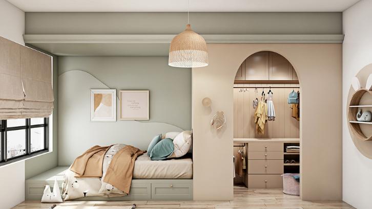 Kamar tidur anak perlu diberikan warna cerah supaya terlihat hidup. (Foto: Home Designing)