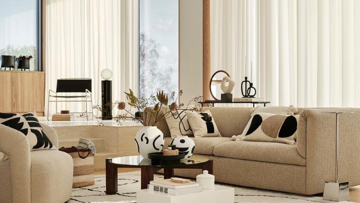Ruang keluarga membutuhkan warna cerah supaya terlihat lapang dan menarik. (Foto: Livingetc)