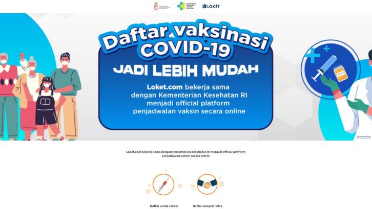 Loket.com mempermudah Anda untuk mendaftar vaksin COVID-19. (Foto: vaksin.loket.com)